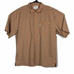 Columbia Sportswear Mens Shirt Beige Plaid